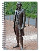 The Man Behind Monticello Spiral Notebook