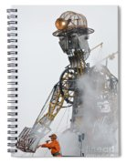 The Man Engine And His Man Spiral Notebook