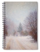The Man In The Snowstorm Spiral Notebook