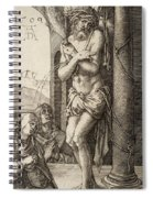 The Man Of Sorrows By The Column With The Virgin And St. John  Spiral Notebook