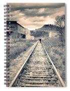 The Man On The Tracks Spiral Notebook