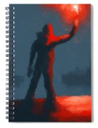The Man With The Flare Spiral Notebook