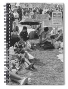 The March On Washington   At Washington Monument Grounds Spiral Notebook