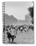 The March On Washington  Heading Home Spiral Notebook