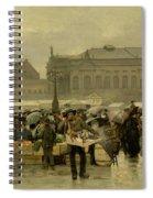 The Market In Antwerp Spiral Notebook