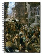 The Market Of Verona Spiral Notebook