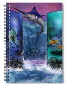 The Marlin And His Sea Friends  Spiral Notebook
