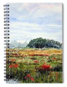 The Marsh In Bloom Spiral Notebook
