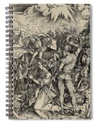 The Martyrdom Of St. Catherine Of Alexandria Spiral Notebook