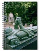 The Mask Of Meditation Spiral Notebook