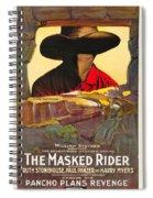 The Masked Rider 1919 Spiral Notebook