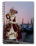 The Masks Of Venice Carnival Spiral Notebook