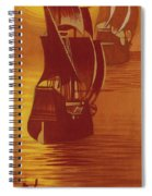 The Mayflower And The Speedwell Leave England In 1620 Spiral Notebook