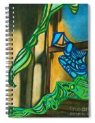 The Mermaid On The Window Sill Spiral Notebook