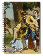 The Midnight Ride Of Paul Revere 1775 Spiral Notebook