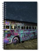 The Milky Way Bus Spiral Notebook
