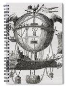 The Minerva Balloon Designed By  Tienne Spiral Notebook