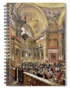 The Miracle Of The Liquefaction Of The Blood Of Saint Januarius Spiral Notebook