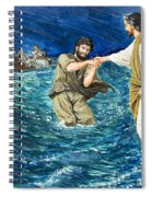 The Miracles Of Jesus Walking On Water  Spiral Notebook