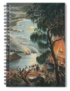 The Mississippi In Time Of War, 1865  Spiral Notebook
