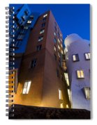 The Mit Stata Center At Night Kendall Square Cambirdge Ma Moon Front Spiral Notebook