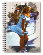 The Monroe Pose  Spiral Notebook