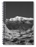 The Moon And The Mountain Range Spiral Notebook