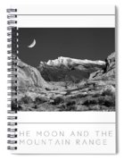 The Moon And The Mountain Range Poster Spiral Notebook