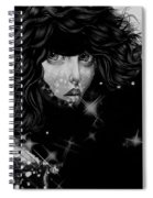 The Moon And The Stars Are In Her Sights. Spiral Notebook