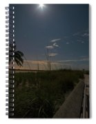 The Moonit Path To Fort Myers Beach Fort Myers Florida Spiral Notebook