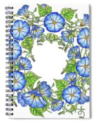 The Morning Glory Circle Watercolor Spiral Notebook