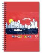 The Motor City - Detroit Michigan Skyline License Plate Art By Design Turnpike Spiral Notebook