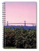 The Mt Hope Bridge Bristol Rhode Island Spiral Notebook