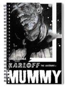 The Mummy 1932 Movie Poster  Spiral Notebook