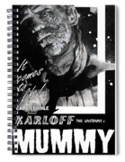 The Mummy 1932 Movie Poster With Tagline Spiral Notebook