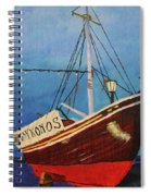 The Mykonos Boat Spiral Notebook