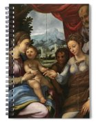 The Mystic Marriage Of Saint Catherine Spiral Notebook