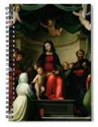 The Mystic Marriage Of St Catherine Of Siena With Saints Spiral Notebook