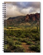 The Mystical Beauty Of The Superstitions  Spiral Notebook