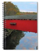 The Narrows Covered Bridge At Dusk Spiral Notebook