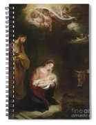 The Nativity With The Annunciation To The Shepherds Beyond Spiral Notebook