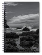 The Needles Black And White Spiral Notebook