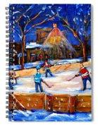 The Neighborhood Hockey Rink Spiral Notebook