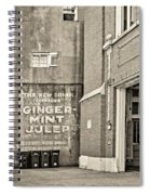 The New Drink Sepia Spiral Notebook