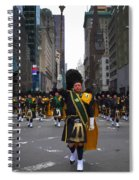 The New York City Police Emerald Society Pipe And Drum Corps Spiral Notebook