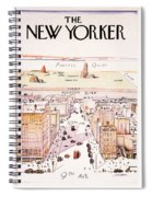 The New Yorker - Magazine Cover - Vintage Art Nouveau Poster Spiral Notebook