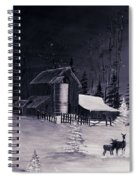 The Night Before Christmas Silvertoned Spiral Notebook