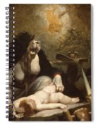 The Night-hag Visiting Lapland Witches Spiral Notebook