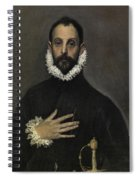 The Nobleman With His Hand On His Chest Spiral Notebook