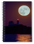 The Nubble And The Full Moon Spiral Notebook